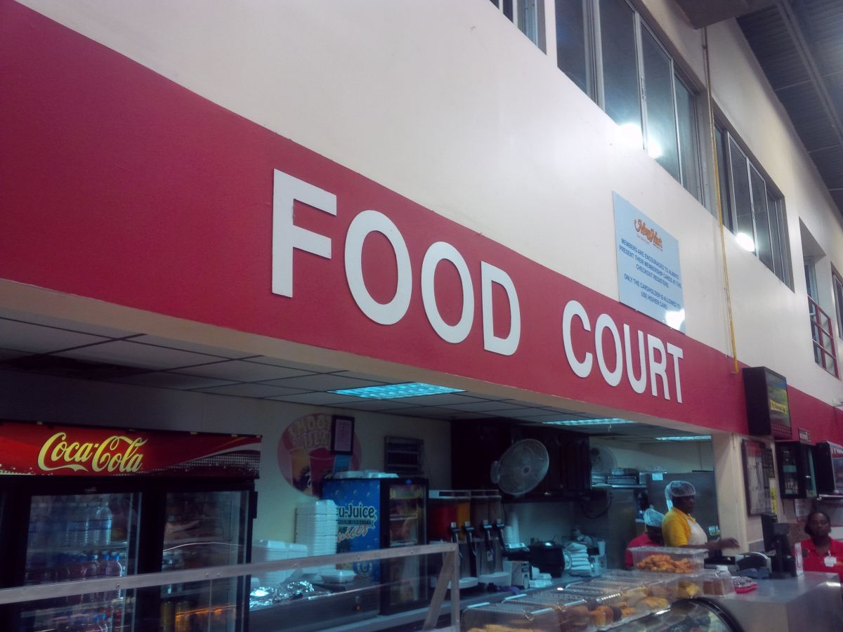 Food court!  How do you plead?  Not guilty.