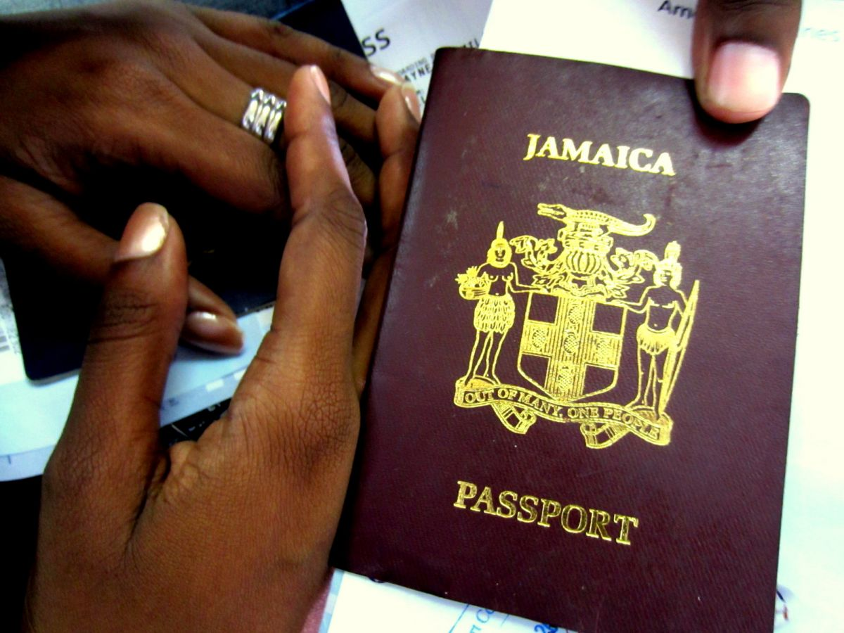 "Only a couple months left on my ""Jamaica"" passport"